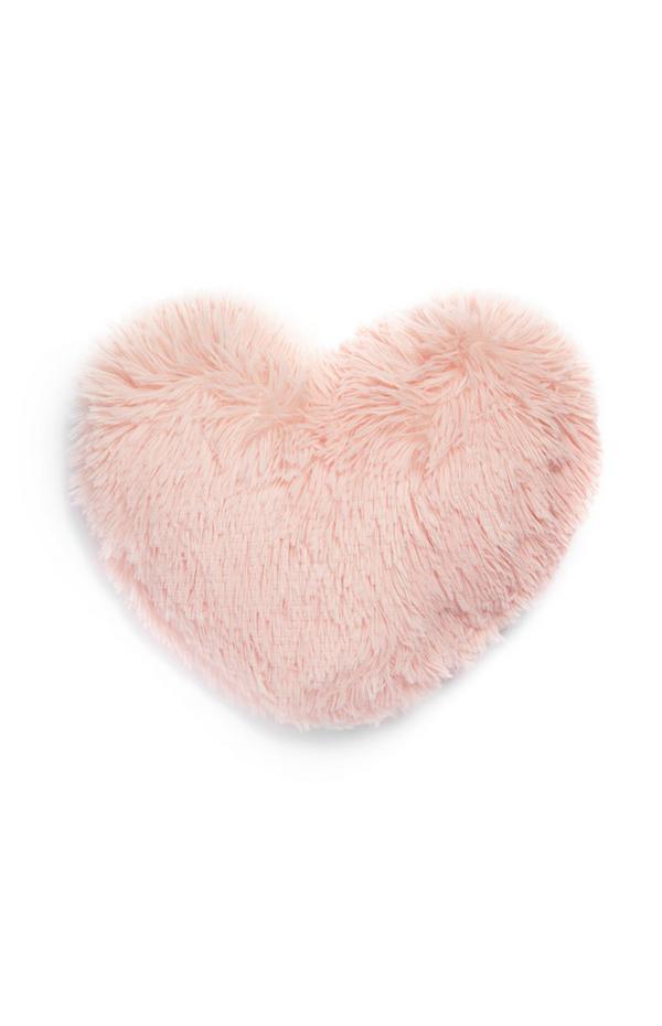 Pompón rosa en forma de corazón