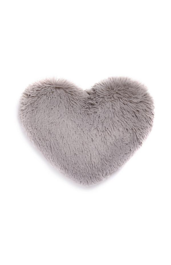 Graues Pompon-Herz
