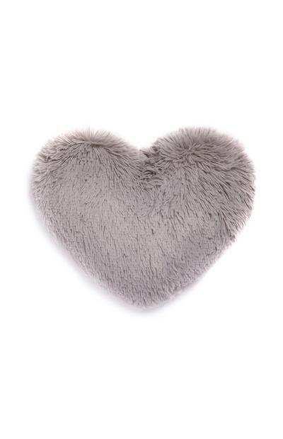 Grey Pom Heart