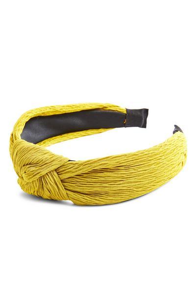 Lime Green Crinkle Knot Headband