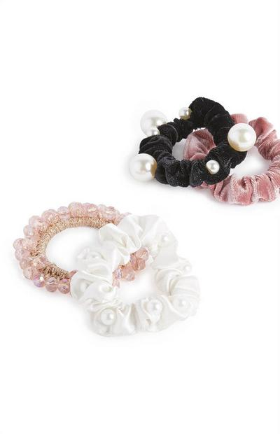 Lot de 4 chouchous à perles