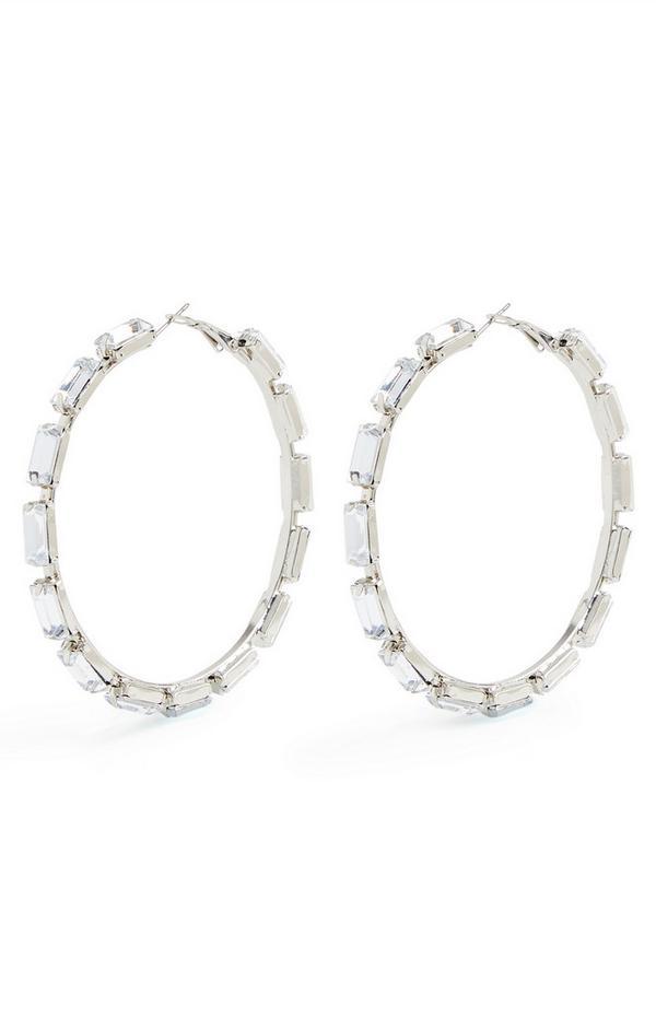 Veliki obročasti uhani z diamanti