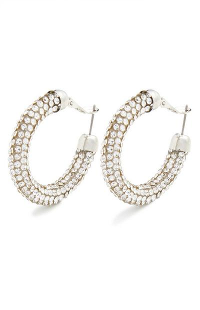 Chubby Dia Midi Hoop Earrings
