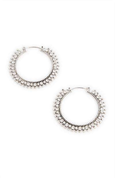 Midi Textured Boho Hoop Earrings