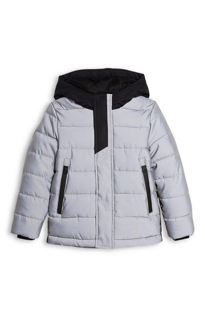 Younger Boy Reflective Puffer Jacket