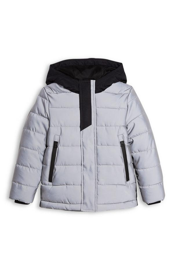 Younger Boy Reflective Puffer Coat