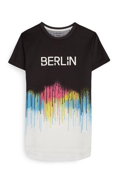 T-shirt effetto vernice Berlin da ragazzo