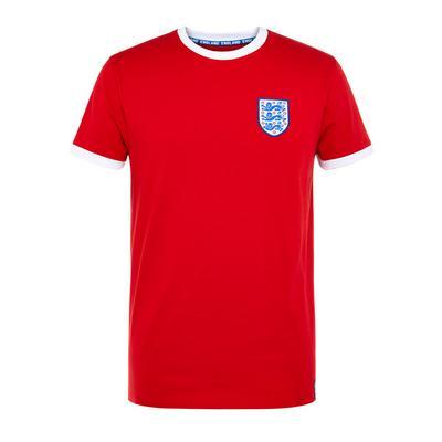 Red England Euros Football T-Shirt