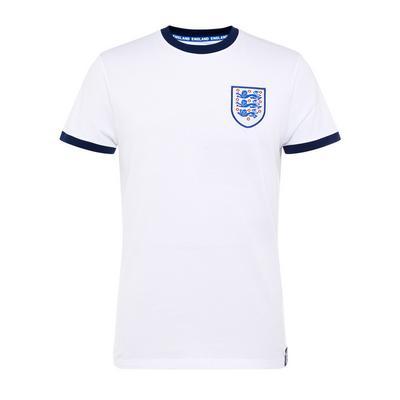White England Euros Football T-Shirt