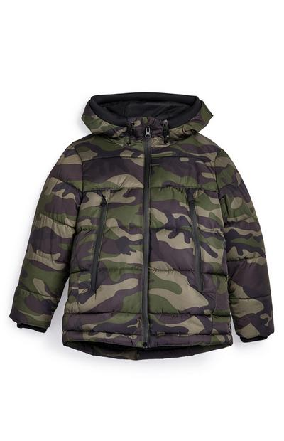 Younger Boy Camo Puffer