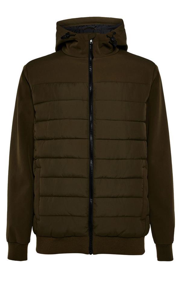 Olive Hybrid Hooded Jacket
