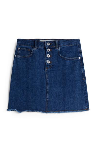 Older Girl Indigo Denim Skirt
