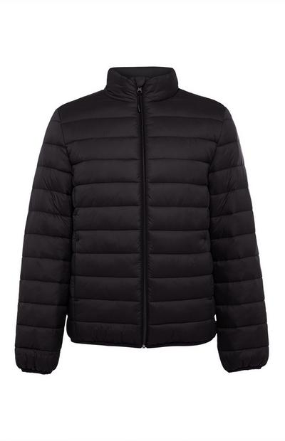 Black Funnel Puffer Jacket