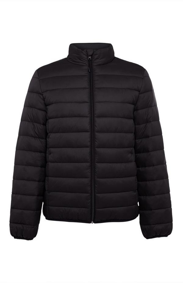 Black Funnel Puffer Jacket