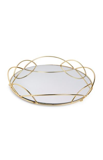 Large Gold Mirror Tray