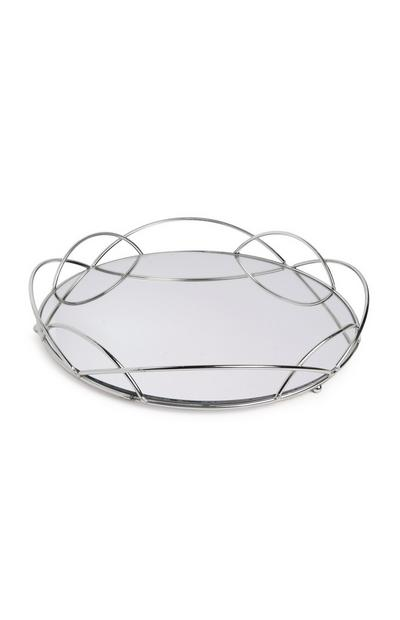 Large Silver Mirror Tray