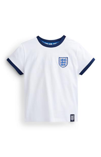 Younger Boy White Three Lions T-Shirt