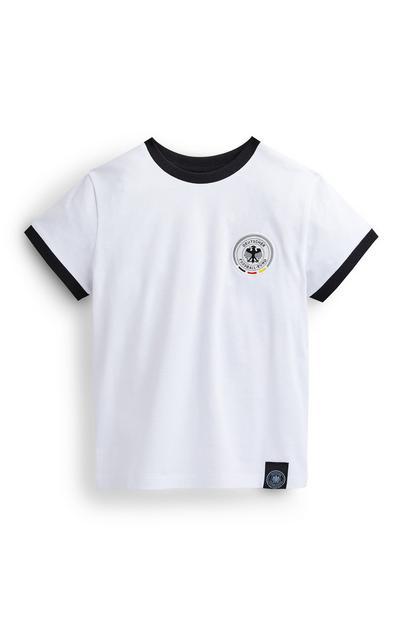 T-shirt de foot blanc Allemagne garçon