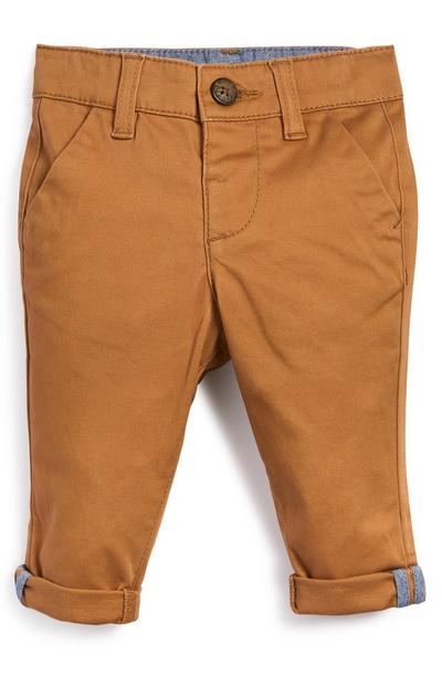 Baby Boy Tan Stretch Chino Trousers
