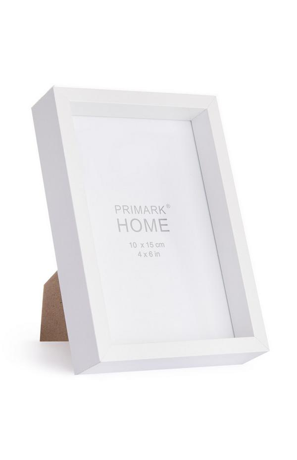 Weißer Holzrahmen, 10 x 15 cm