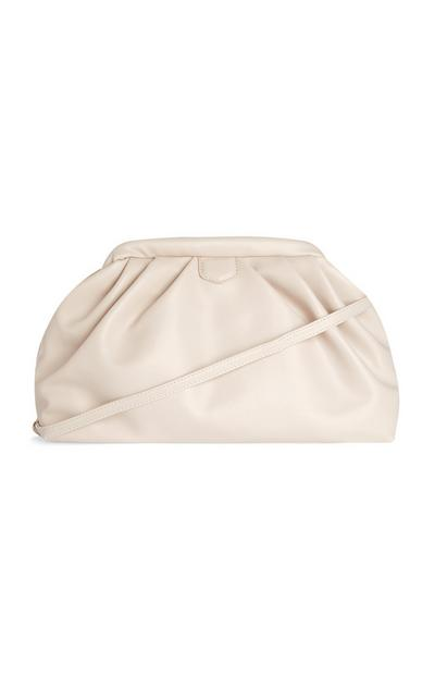 White Oversized Soft Pouch Bag