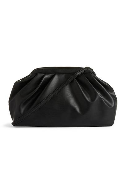 Black Oversized Soft Pouch Bag