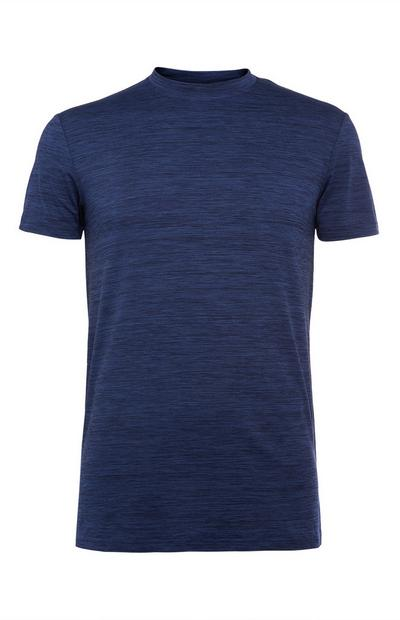 Blauw-zwart superstretch T-shirt