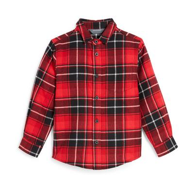 Younger Boy Red Check Shirt