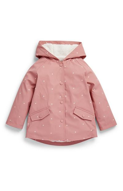 Baby Girl Pink Lined Raincoat