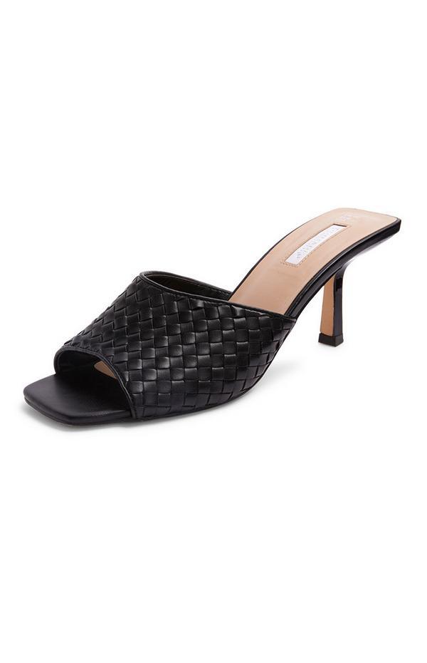 Sandalias tejidas negras
