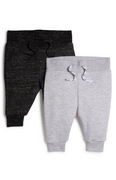 Jogginghose in Anthrazit/Grau für Babys (J), 2er-Pack