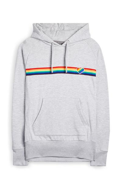 White Chest Stripe Pride Hoodie