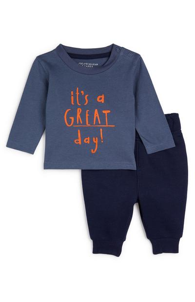 Baby Boy Navy Great Day Leisure Set