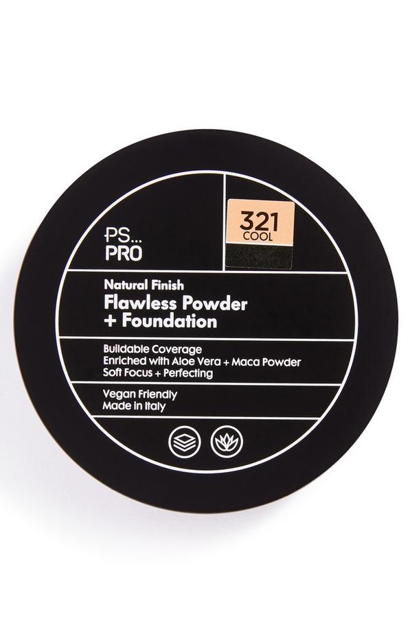 Base y polvos de acabado natural impecable en tono 321 Cool PS Pro