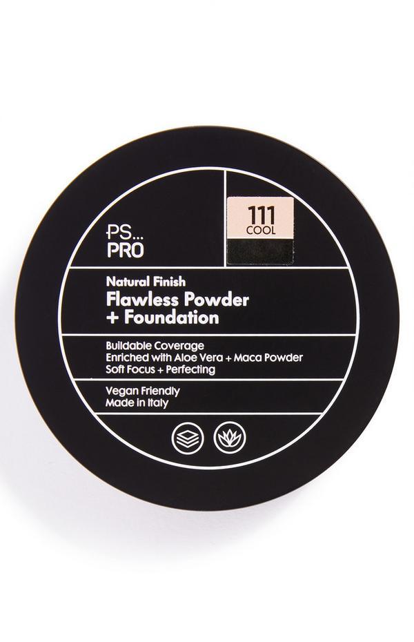 Base y polvos de acabado natural impecable en tono 111 Cool de PS Pro