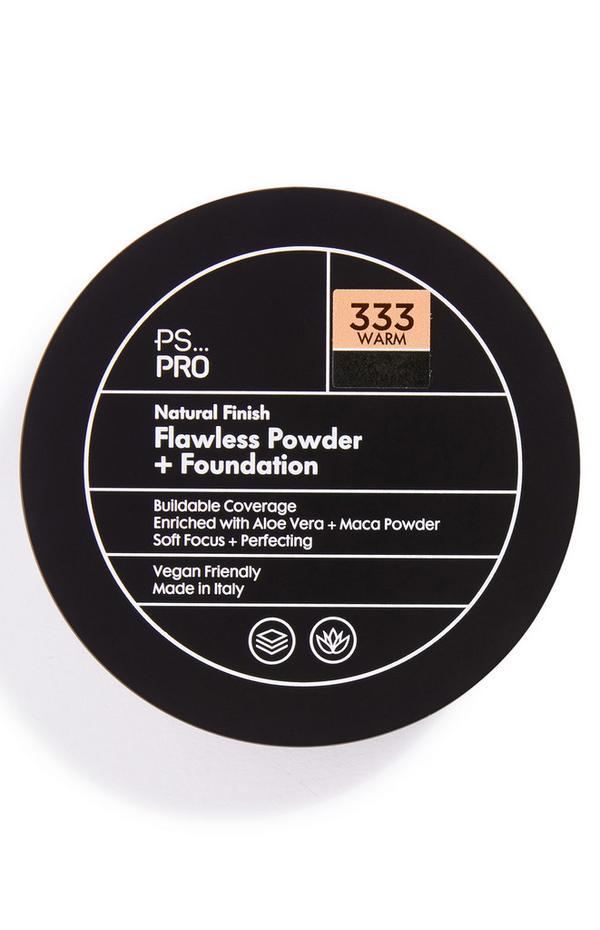 Base y polvos de acabado natural impecable en tono 333 Warm de PS Pro
