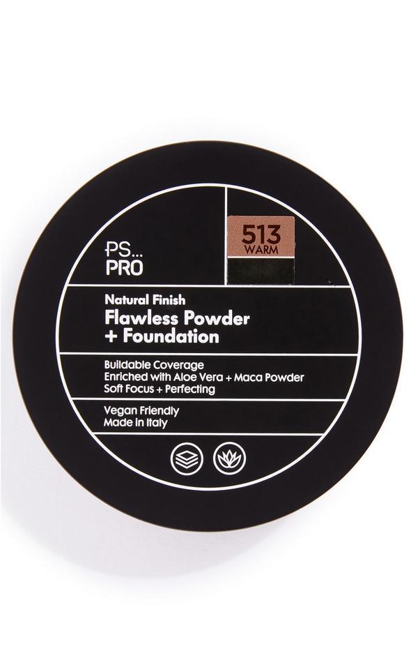 Base y polvos de acabado natural impecable en tono 513 Warm de PS Pro