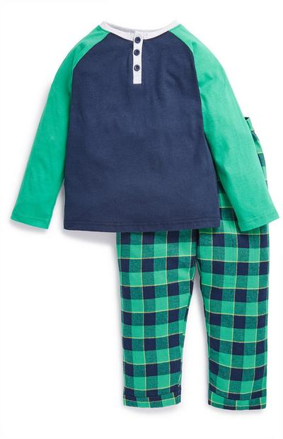 Pigiama verde e blu da bambino