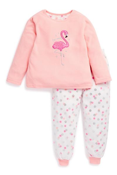 Young Girl Flamingo Pyjama Set