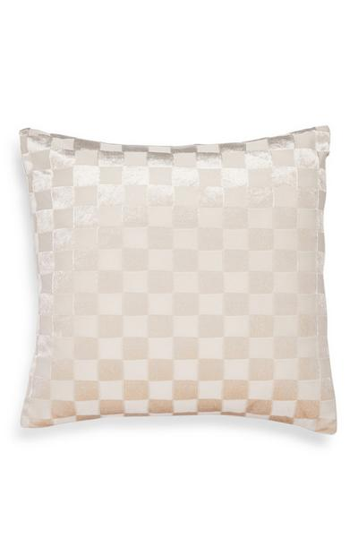 White Sheared Velvet Cushion Cover
