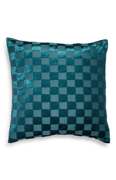 Teal Sheared Velvet Cushion Cover
