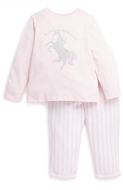 Young Girl Unicorn Pyjama Set