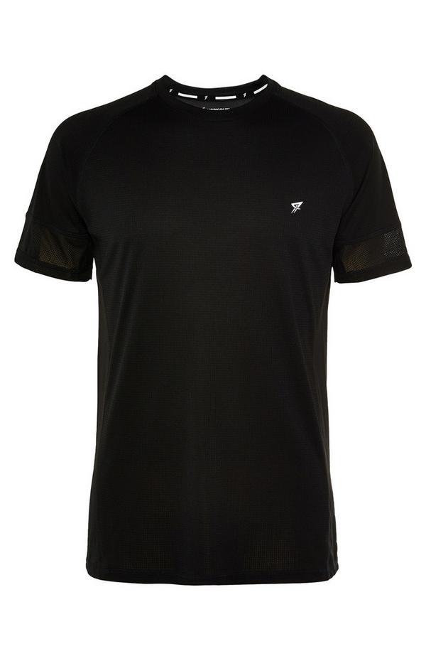Schwarzes Trainingsshirt mit Logo