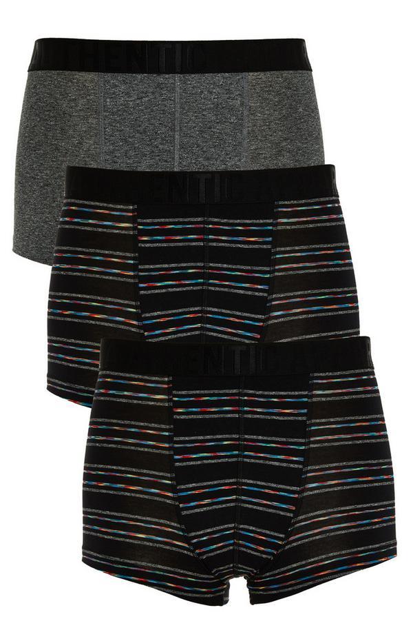 3-Pack Striped Mix Modal Boxer Briefs
