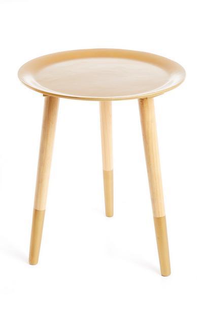 Three Legged Gold Table