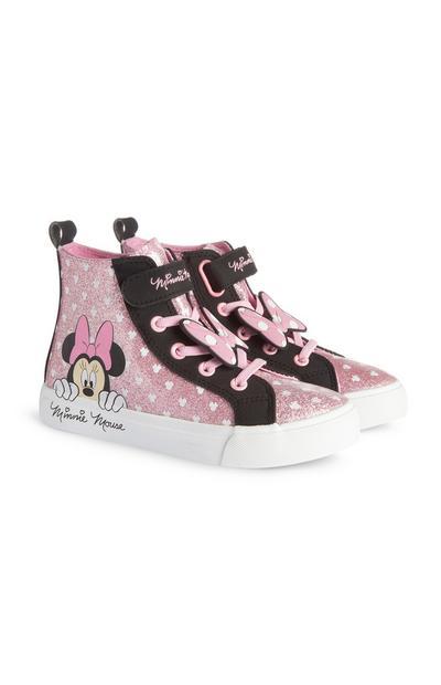 """Schwarz-rosafarbene """"Minnie Maus"""" Sneaker mit Punkten (kleine Mädchen)"""