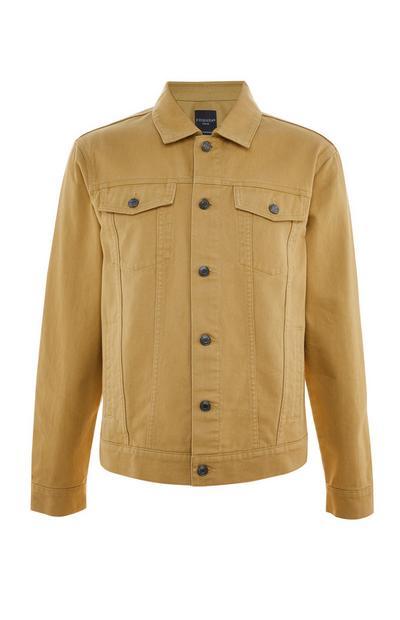 Gorčično rumena jakna iz kepra z gumbi
