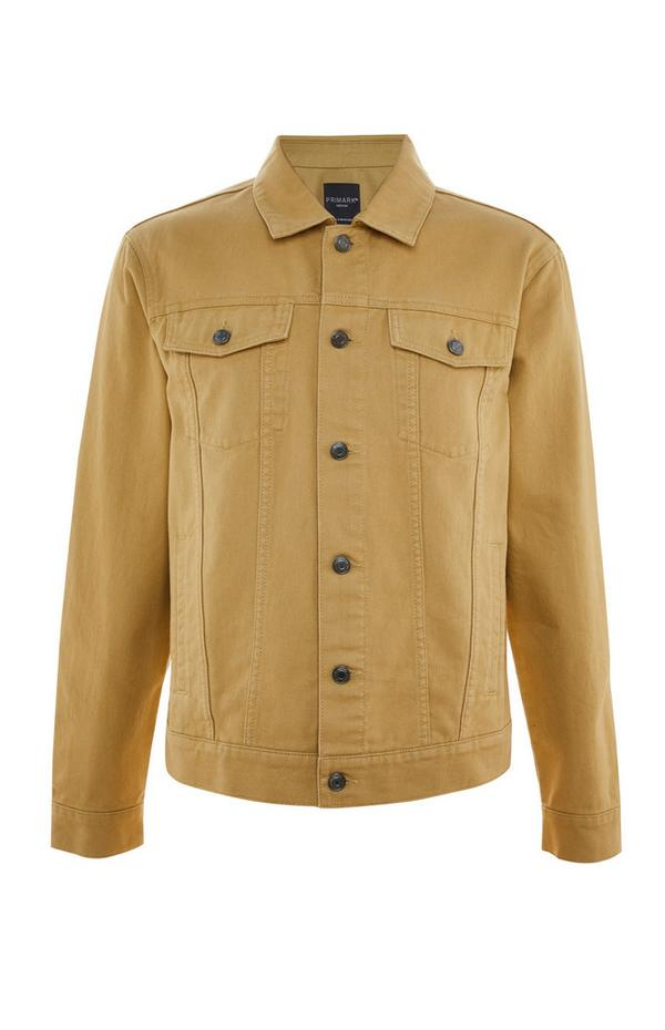 Mustard Twill Button Up Trucker Jacket