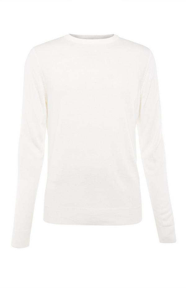 White Plain Acrylic Sweater