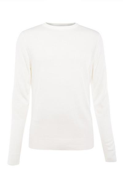 White Plain Acrylic Sweater
